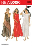 6229 New Look Pattern: Misses' Loose fitting Casual Maxi Dress